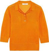 Lanvin Waffle-knit Polo Shirt - Orange