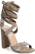 Steve Madden 'Christey' Wraparound Ankle Tie Sandal (Women)