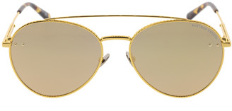 Bottega Veneta Unisex Gold Aviator Sunglasses