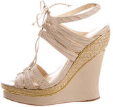 Alexandre Birman Embossed Platform Wedges