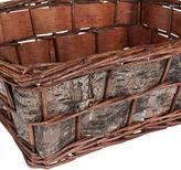 Household Essentials Birch Bark and Wicker Basket