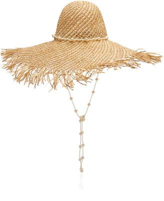 Avenue Chloe Fringed Straw Hat