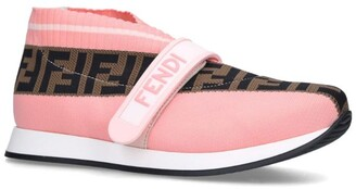 Fendi FF Love Woven Slip-On Sneakers