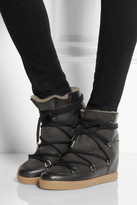 Isabel Marant Nowles shearling-lined leather concealed wedge boots