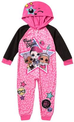 AME L.O.L. Surprise! Hooded One Piece Pajamas (Little Girls)