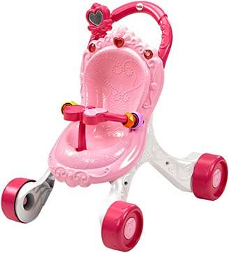 Fisher-Price Princess Mommy Stroll-Along Musical Walker, Baby Walker with Activities, Music and Sounds, Toy for 9 month plus Old