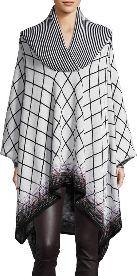 Missoni Mixed-Stripe Poncho