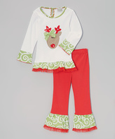 White Reindeer Tee & Leggings - Infant