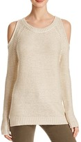Aqua Marled Cold Shoulder Tunic Sweater