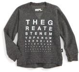 Nununu Toddler Boy's Vision Test Sweatshirt