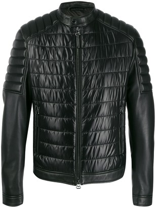 HUGO BOSS quilted leather jacket