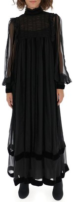 Alberta Ferretti Sheer Maxi Long Dress