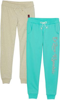 Love Republic Girls' Sweatpants OATMEAL - Oatmeal Heather & Seafoam Sequin 'Love' Joggers Set - Toddler & Girls