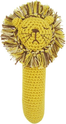Albetta Crochet Lion Rattle Stick