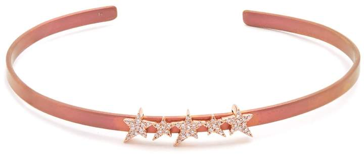 Diane Kordas Diamond, rose-gold & titanium Cosmos Star cuff