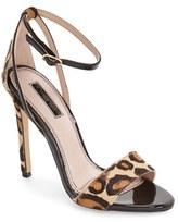 Topshop Women's Raphael New Genuine Calf Hair Leopard Print Sandal