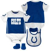 NFL Indianapolis Colts Lil Jersey 3-Piece Creeper, Bib, and Bootie Set