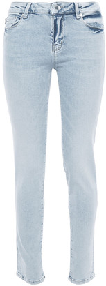 Love Moschino Appliqued Mid-rise Skinny Jeans