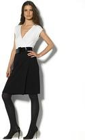 Women's Ivana Ponte Cap Sleeve V-Neck Faux Wrap Dress