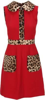 Dolce & Gabbana Leopard Details Dress
