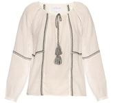 Velvet by Graham & Spencer Shavanni embroidered cotton-blend top