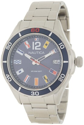 Nautica Men's Cruise NST 1 Flags Bracelet Watch, 46mm