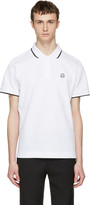 McQ by Alexander McQueen White Glyph Icon Polo