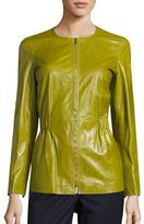Lafayette 148 New York Lucina Lacquered Leather Jacket