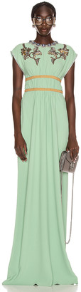 Gucci Evening Gown in Mint Cream | FWRD