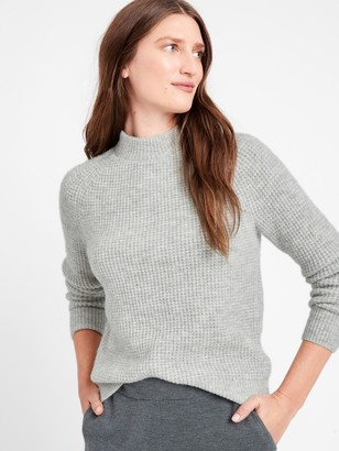 Banana Republic Aire Waffle-Knit Sweater