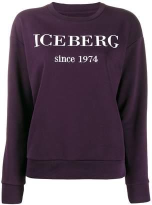 Iceberg logo embroidered sweatshirt