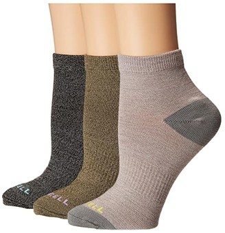 Merrell Casual Anklet Socks 3-Pack (Quail Marl Assorted) Women's Crew Cut Socks Shoes