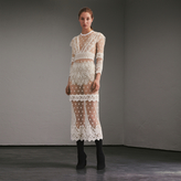 Burberry Embroidered Tulle Panel Dress