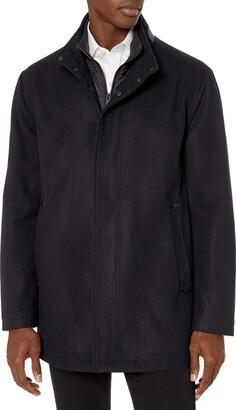 Andrew Marc Men's Wool Barton Jacket with Nylon Bib Insert