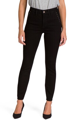 JEN7 by 7 For All Mankind Stud Pocket Ankle Skinny Jeans