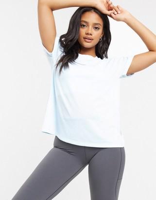 adidas Short Sleeve T-Shirt In Sky Tint