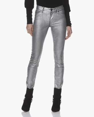 Paige Verdugo Ultra Skinny-Silver Galaxy Coating