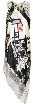 Preen by Thornton Bregazzi Patchwork asymmetric mini dress