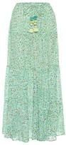 Poupette St Barth Rachel floral cotton maxi skirt