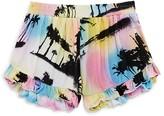 Flowers by Zoe Girls' Ruffled Palm Print Shorts - Big Kid