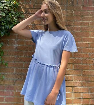 Noisy May Tall smock t-shirt in baby blue