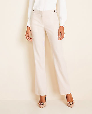 Ann Taylor The Petite Straight Pant in Herringbone