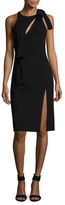 Versace Shoulder Appliqu&eacute Asymmetrical Sheath Dress