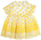 Simonetta Floral Organza & Cotton Poplin Dress