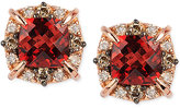 LeVian Le Vian Petite Collection Garnet (1-3/8 ct. t.w.) and Diamond (1/4 ct. t.w.) Stud Earrings in 14k Rose Gold, Only at Macy's