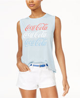 Hybrid Juniors' Coca-Cola Logo Graphic tank Top