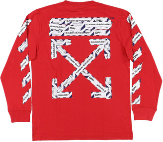 Off-White Red Cotton T-shirts