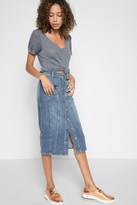 7 For All Mankind Button Front Skirt In Rockaway Beach 2