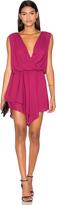 Krisa Asymmetrical Surplice Mini Dress