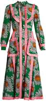 Gucci Daisy-print silk crepe de Chine midi dress